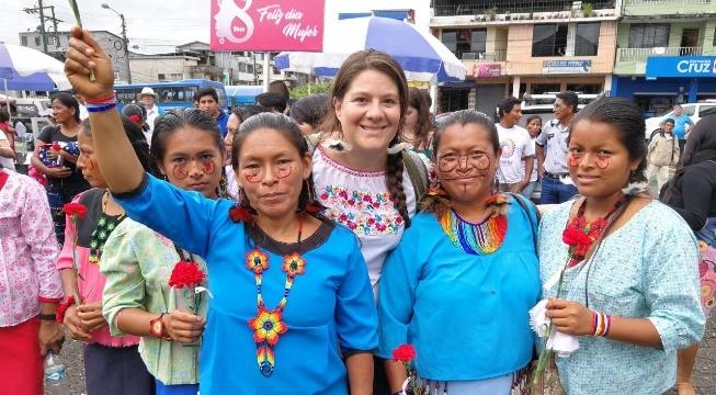 Indigenous Women March for An Oil-free Amazon on International Women's Day